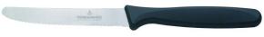 Brotzeit- / Steak- / Pizzamesser, hochpräziser Wellenschliff, Gesamtlänge 22,2 cm