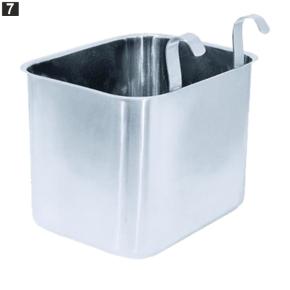 Abfallbehälter für Servierwagen, 23 x 18 x H 18,5 cm