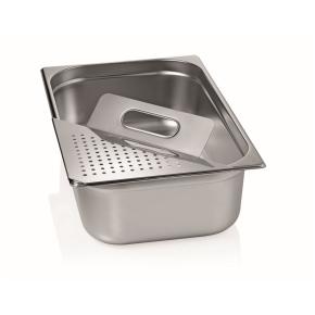 Abgießhilfe für Gastronormbehälter, 38,5×24 mm, Edelstahl