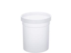 Papierkorb aus Polypropylen, 10 Liter, natur, Ø 25 x H 27,5 cm