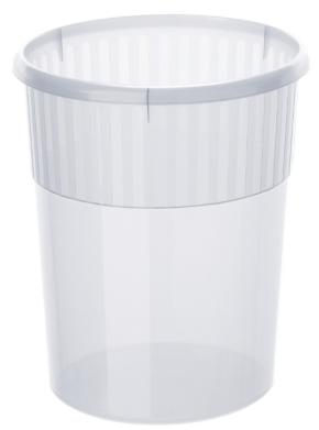 Papierkorb aus Polypropylen, 18 Liter, NATUR/TRANSPARENT, Ø 31 x H 35 cm