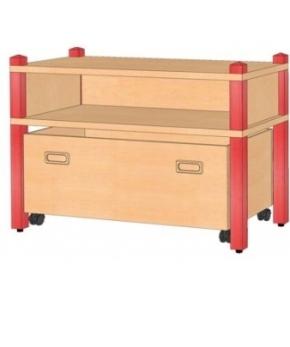 Stollenregal mit Rollkasten, B/H/T 82 x 60 x 40 cm
