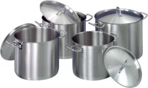8-teiliges Kochtopf-Set aus Edelstahl, induktionsgeeignet (8 - 15 Liter)