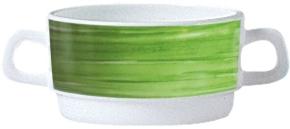 Suppenobertasse Brush GRÜN 0,32 Liter, stapelbar, Ø 105 x 54 mm