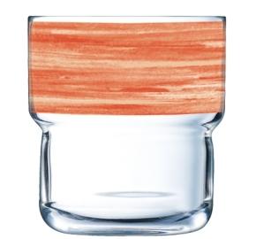 """Brush Log"" Stapelbecher 0,22 Liter, Orange"