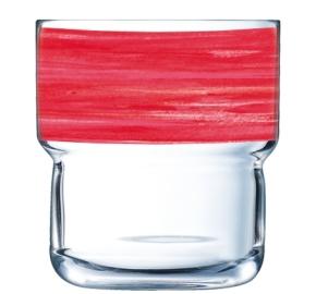 """""""Brush Log"""" Stapelbecher 0,22 Liter, Cherry"""