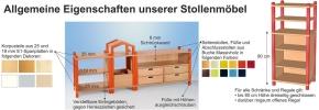 Stollenregal MIT NUR 1 festen Boden, Breite 56 cm, 80 cm Hoch