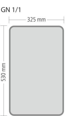 """Gastronorm """"Serie 70"""" - Größe 1/1 GN (= 530x325 mm)"""