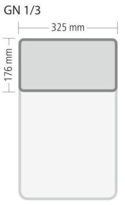 """Gastronorm """"Serie 70"""" - Größe 1/3 GN (= 325×176 mm)"""
