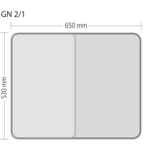 """Gastronorm """"Serie 70"""" - Größe 2/1 GN (= 650×530 mm)"""