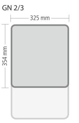 """Gastronorm """"Serie 70"""" - Größe 2/3 GN (= 354x325 mm)"""