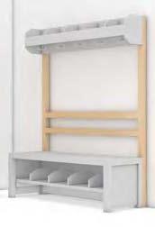Garderobenstütze mit Rückenlehne, Buche Massivholz (Ausführung wählen)
