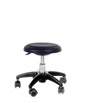 Genito ohne Lehne (= Hocker), 30-38 cm, 024 Kunstleder schwarz