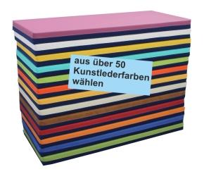 """Liegepolster mit Bezug """"Jeansstoff / Kunstleder in über 50 Farben"""" (Größe, Farbe wählen)"""