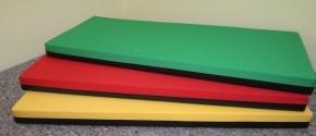 Matratze / (Boden-)Liegepolster, Bezug beidseitig Baumwollmischgebebe (Größe, Farbe wählen)