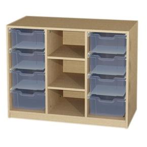 Unterschrank 3 reihig mit 8 Kunststoffschüben, B/H/T: 104,3 x 80 x 50 cm