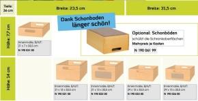 Stollenschrank mit Massivholzkästen, B/H/T 106 x 60 x 40 cm