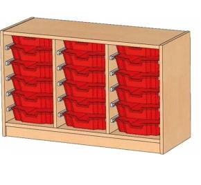 Regal mit Ergo Tray Boxen, B/H/T: 105 x 60 x 40 cm