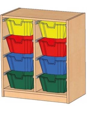 Regal mit Ergo Tray Boxen, B/H/T: 70,5 x 80 x 40 cm
