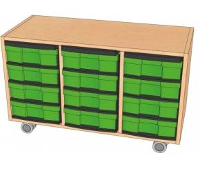 Fahrbares Regal mit InBoxen, B/H/T 98,5 x 59 x 40 cm