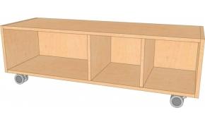 Fahrbares Regal, B/H/T 130,5 x 39 x 40 cm
