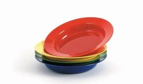 Kunststoffgeschirr aus POLYPROPYLEN - Teller tief klein Ø 190 mm  (Farbe wählen)