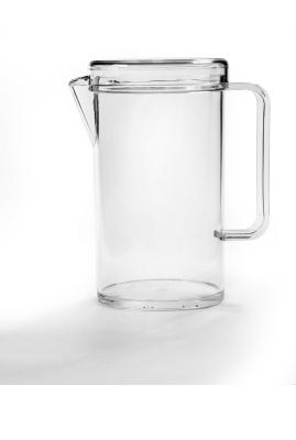 Kanne mit Deckel, transparenter SN-Kunststoff, 1,30 Liter, Ø 105 x H 195 mm