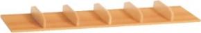 Ablage mit Schuheinteilungen aus Holz
