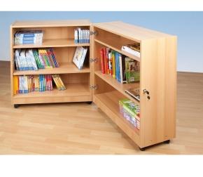Klappbibliothek klein, B/H/T: 80 x 92,5 x 64 cm