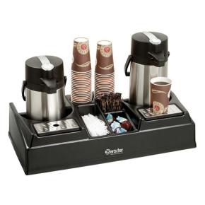 Doppel-Kaffeestation, geeignet für alle Thermokannen bis zu einem Ø von 19 cm