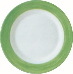 Mittagsteller / Teller flach Ø 23,5 cm Brush GRÜN, Höhe 2,6 cm, stapelbar
