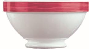Suppenschale mit Fuß 0,53 Liter Brush CHERRY, Ø 132 x H 74 mm