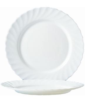 """Hartglas """"Trianon"""" - Mittagsteller / Teller flach Ø 24,5 cm, H 24 mm"""