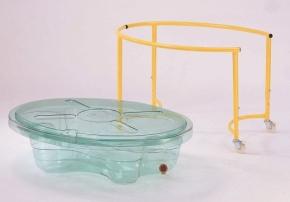Sand- & Wassertisch, transparent, auf Rollen